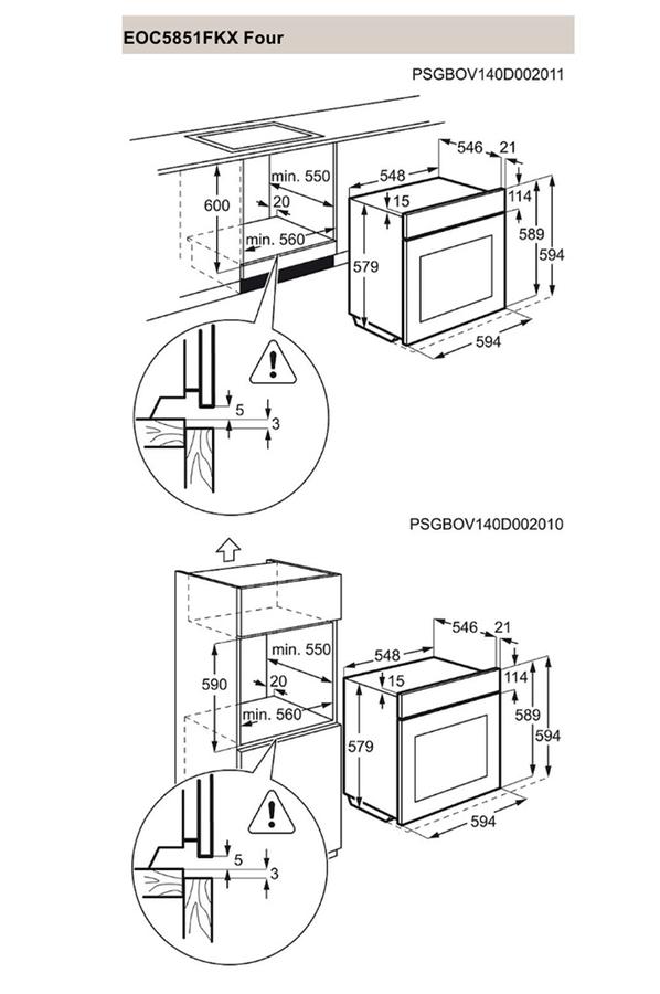 Four encastrable electrolux eoc5851fkx inox 4221974 darty - Darty four multifonction ...