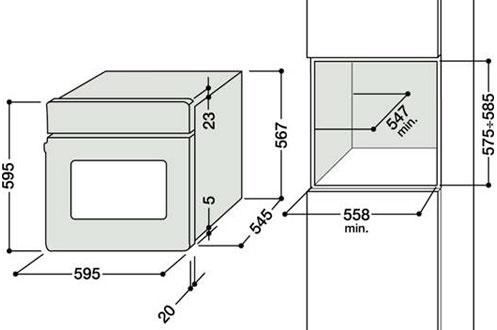 Four Encastrable Dimension Four Encastrable Hotpoint fz