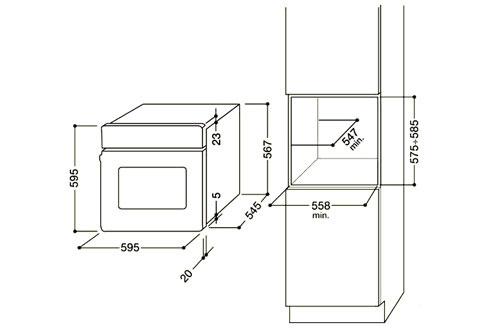 Four Encastrable Dimension Four Encastrable Hotpoint Luce