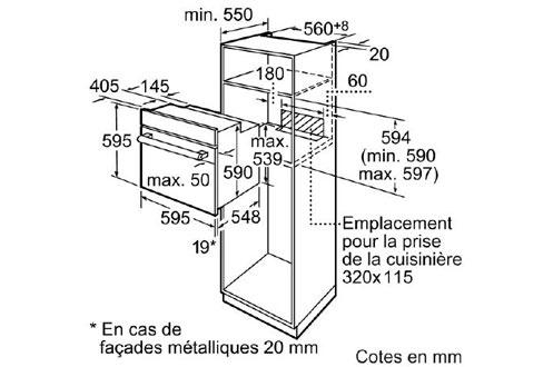 Four encastrable HB43AB220F BLANC Siemens