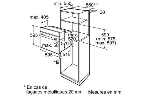 Siemens HB64AR250F BLANC