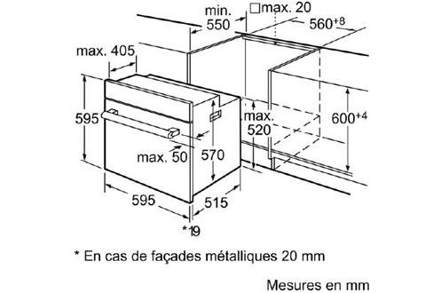 Four encastrable Siemens HB64AR650F NOIR