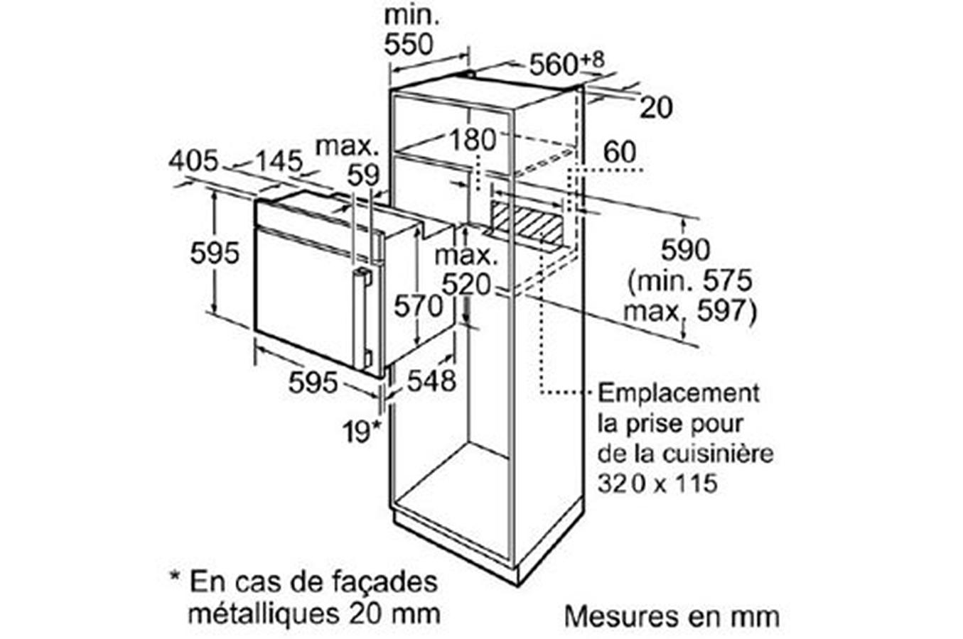 four encastrable siemens hb65lr660f noir hb65lr660f. Black Bedroom Furniture Sets. Home Design Ideas
