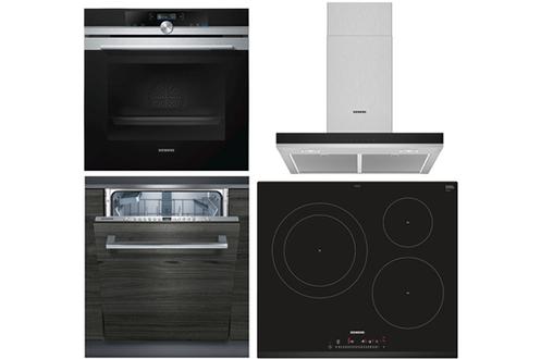 Four encastrable Siemens Four HB675GOS1 Plaque de cuisson EH631FJB1E Hotte LC66BHM50 Lave-vaisselle