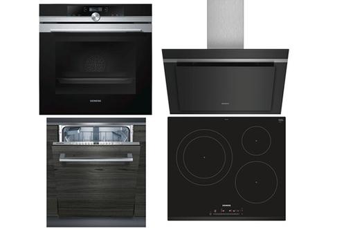 Four HB675G0S1F Plaque de cuisson EH631FJB1E Hotte LC87KHM60 Lave-vaisselle SN636X00CE