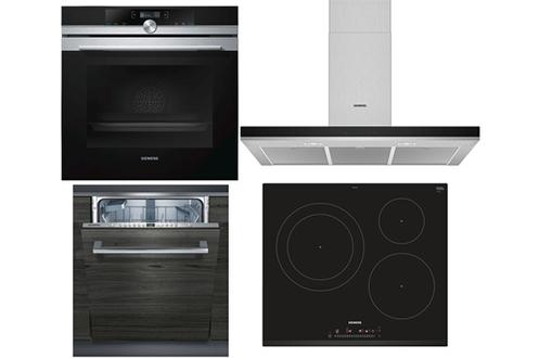 FOUR HB675GOS1F Plaque de cuisson EH631FJB1E Hotte lLC96BHM50 Lave-vaisselle SN636X00CE