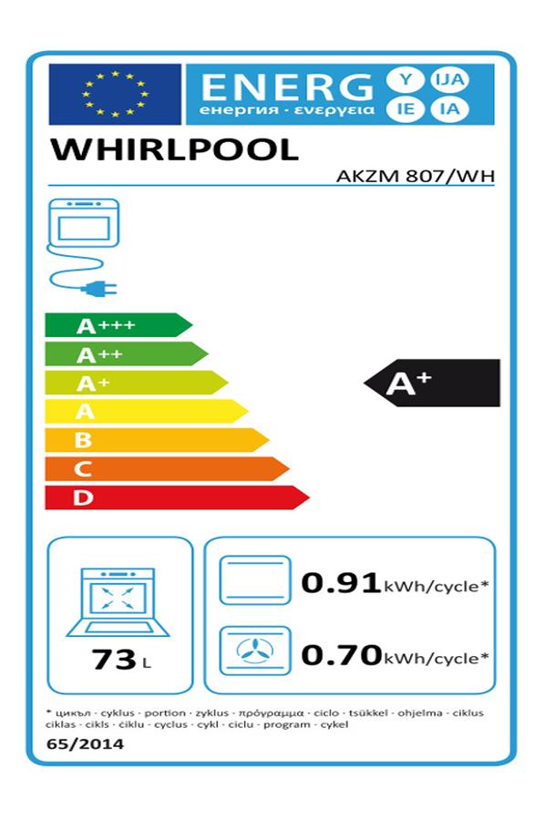four encastrable whirlpool akzm807wh 4025687 darty. Black Bedroom Furniture Sets. Home Design Ideas