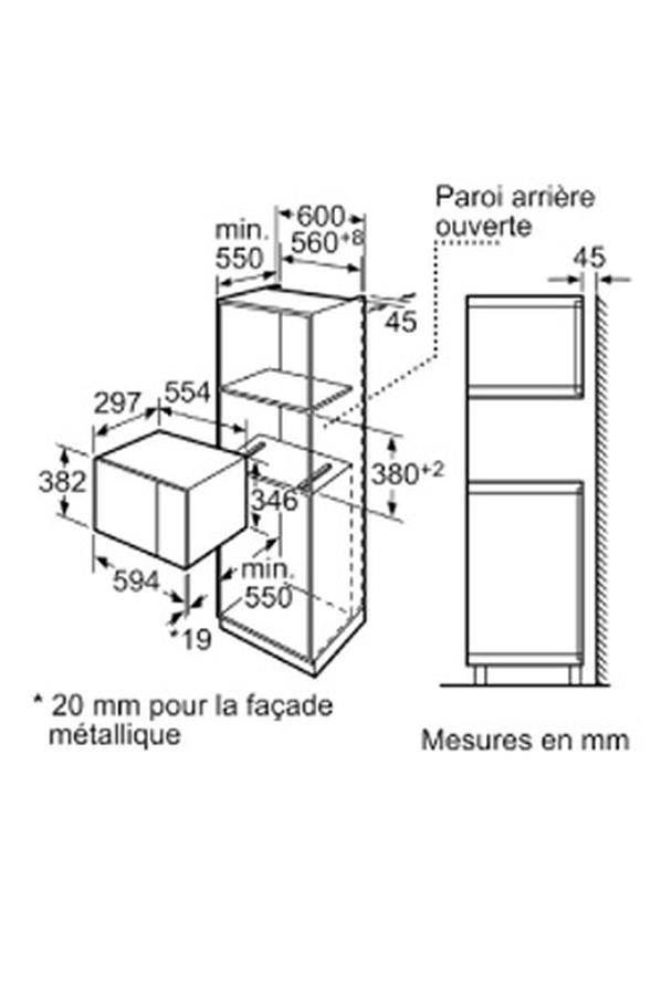 micro ondes encastrable bosch hmt75g654 inox 4130448 darty. Black Bedroom Furniture Sets. Home Design Ideas