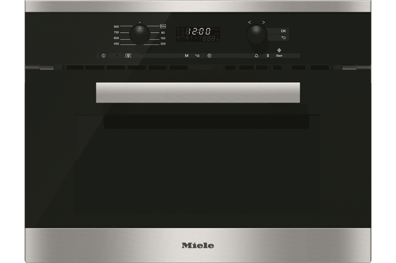 Micro ondes encastrable miele m 6260 tc in inox m 6260 tc in 3816605 darty - Four micro onde vapeur miele ...