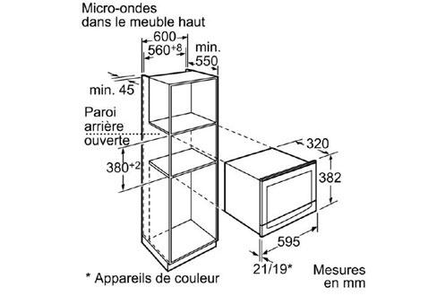 micro ondes encastrable neff c54l60n3 3675670. Black Bedroom Furniture Sets. Home Design Ideas