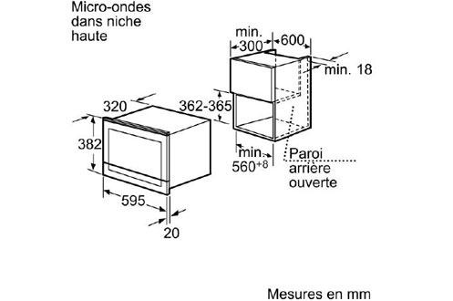 Micro ondes encastrable HF25M2L2 Siemens
