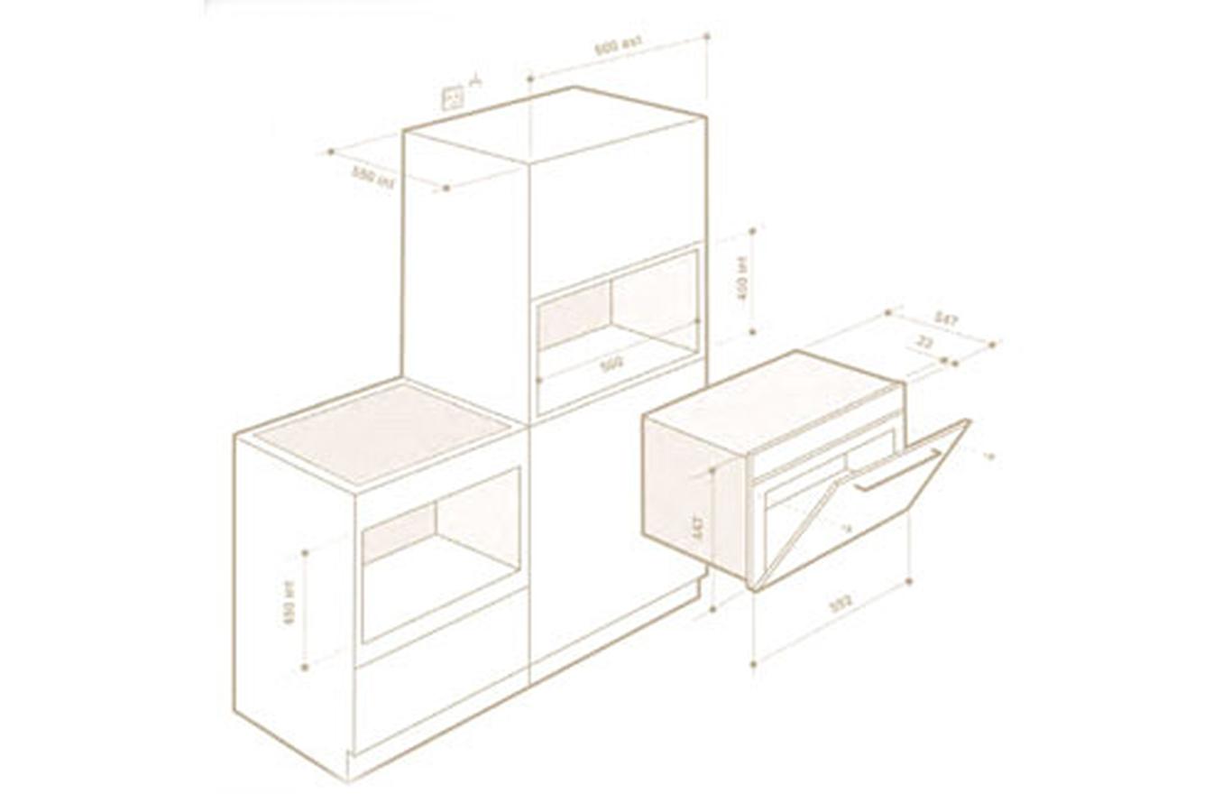 micro ondes combin encastrable de dietrich dme 1140 b. Black Bedroom Furniture Sets. Home Design Ideas