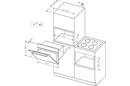 four vapeur de dietrich dov 745 b noir 3092151. Black Bedroom Furniture Sets. Home Design Ideas
