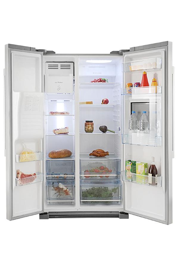 refrigerateur americain haier hfr 628af6 3683974 darty. Black Bedroom Furniture Sets. Home Design Ideas