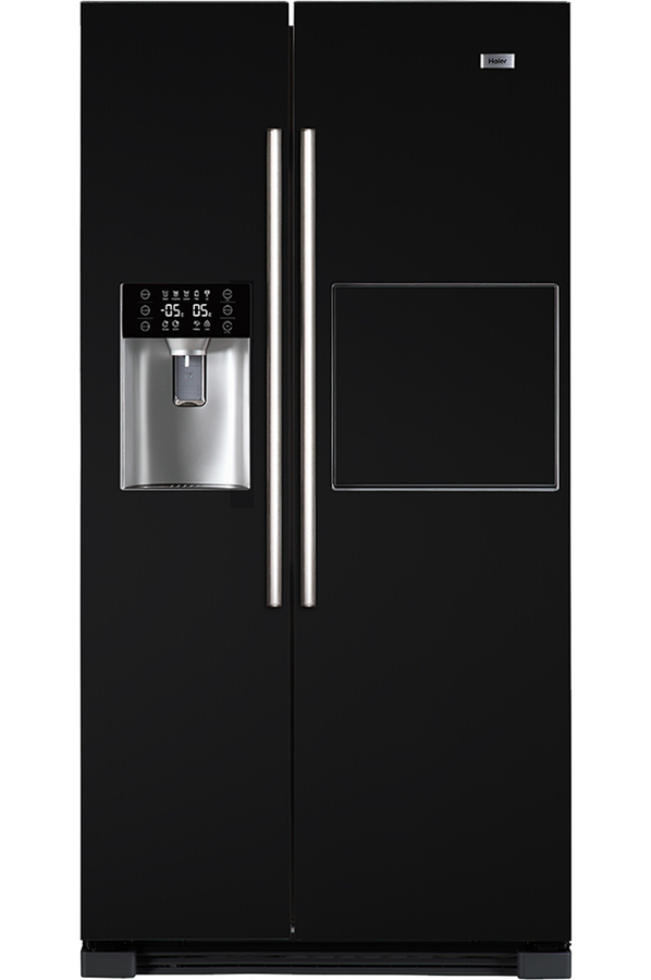 finest lovely frigo americain noir laque americain hrfan haier with but frigo americain. Black Bedroom Furniture Sets. Home Design Ideas
