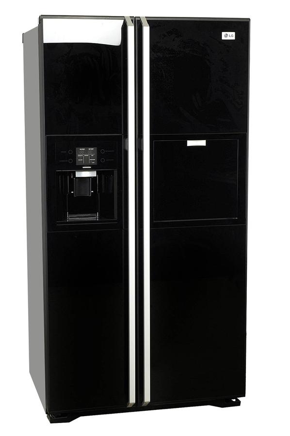 refrigerateur americain lg grp 2374 kgda noir. Black Bedroom Furniture Sets. Home Design Ideas
