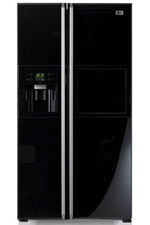 refrigerateur americain lg grp 2384 kgda noir darty. Black Bedroom Furniture Sets. Home Design Ideas