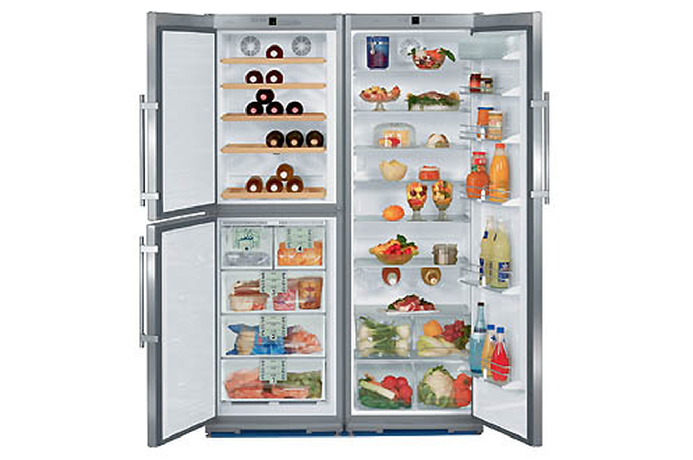 refrigerateur americain liebherr sbses 7052 4 inox sbses7052 4 1836986 darty. Black Bedroom Furniture Sets. Home Design Ideas