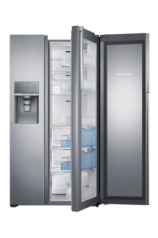 Refrigerateur americain samsung rh57h90507f food showcase for Decoration porte frigo