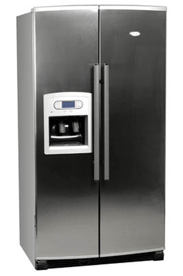 Refrigerateur americain whirlpool s20 drss inox s20drss for Refrigerateur but
