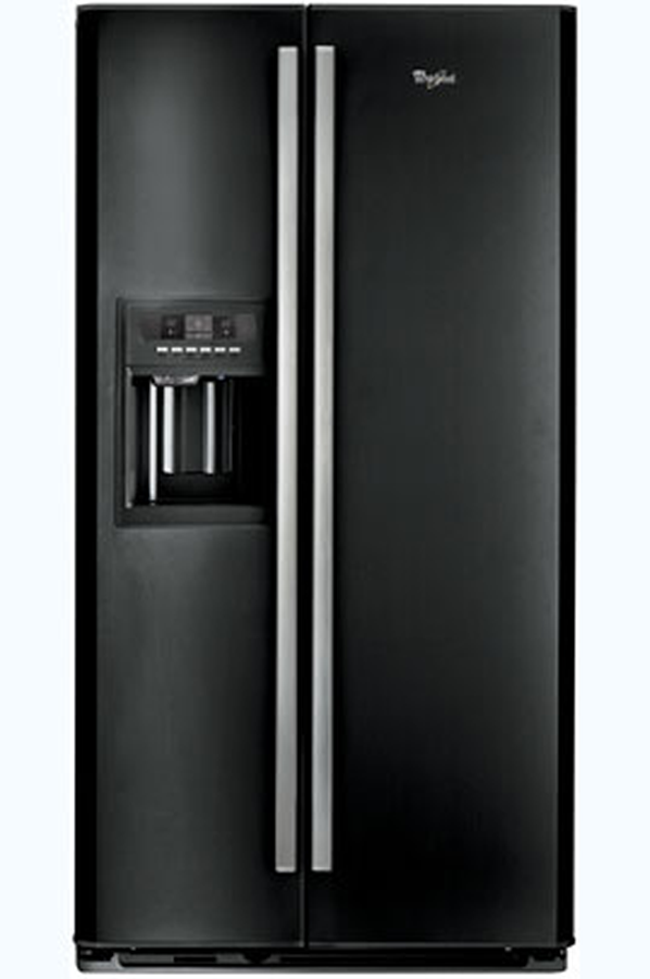 superior frigo americain noir laque 2 refrigerateur. Black Bedroom Furniture Sets. Home Design Ideas