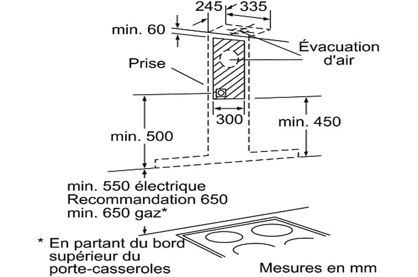 Hauteur Prise Hotte Latest Les Derniers Sujets With Hauteur Prise  # A Quelle Hauteur Fixer Une Tv