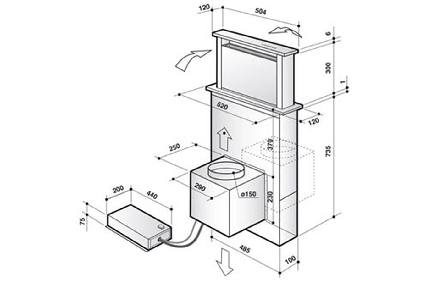 hotte escamotable de dietrich dhd 1101 x 3534979 darty. Black Bedroom Furniture Sets. Home Design Ideas