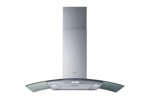 Hotte îlot 90 cm Débit d'air 448 m3/h et 603 m3/h (en intensive) Puissance acoustique 62 dB (69 en vitesse intensive) Eclairage LED 2x2.5 W - Ecran LCD