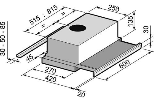Звукопоглощающая панель.  ACK 63268.  3. Телескопический.  Дизайн.  13,5 см. Производительность.