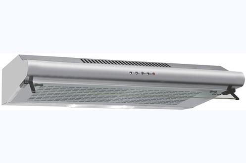 Hotte visière 80 cm Débit d'air de 395 m3/h Puissance acoustique 65 dB(A) Eclairage halogène 2 x 28 Watts