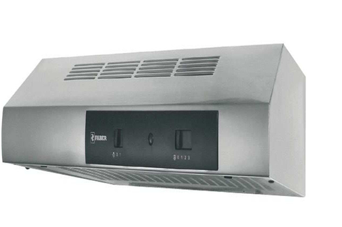 Hotte visière 90 cm Débit d'air maxi : 200 m3/h Puissance sonore maxi : 70 dB Eclairage halogène - Commandes électroniques Slider