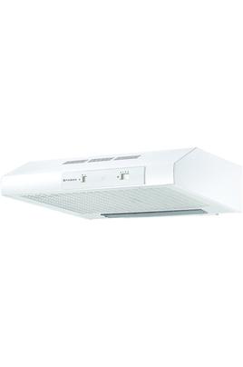 Hotte visière 60 cm Débit d'air maxi : 200 m3/h Puissance sonore maxi : 70 dB Eclairage halogène - Commandes électroniques Slider