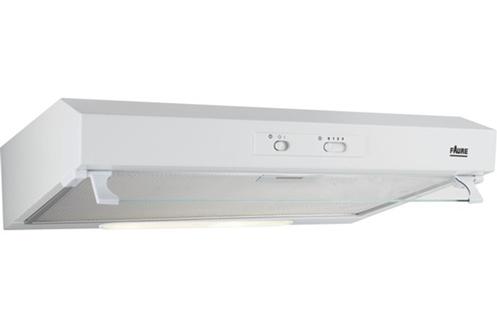Hotte visière - 60 cm 115 watts - Débit d'air 272 m3/h Commande par curseur Clapet anti-retour