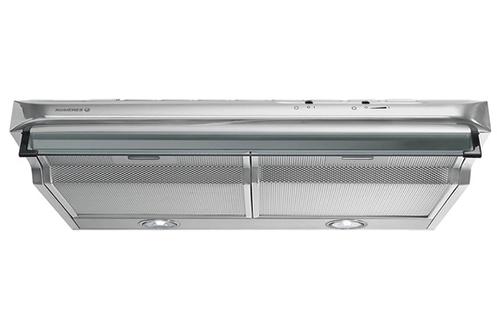 Hotte visière 60 cm Débit d'air de 360 m3/h 3 vitesses d'aspiration Eclairage halogène