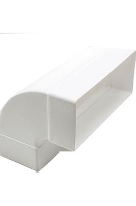 Connecteur installation angle 90° Compatible pour la NIKOLATESLA version évacuation Dimensions (LXH) : 22,7x9.4 cm
