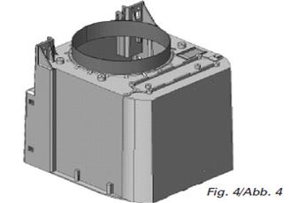 Hotte sans moteur / moteur Falmec MOTDSC950 - SOLUTION MOTEUR DEPORTE SOUS COMBLES 950