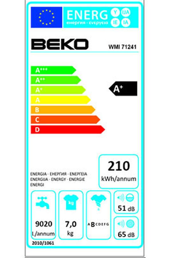 Lave linge encastrable Beko WMI71241 WMI71241 (3482405)