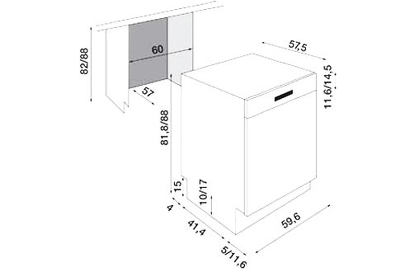 lave vaisselle encastrable electrolux asi 64010 x bandeau. Black Bedroom Furniture Sets. Home Design Ideas