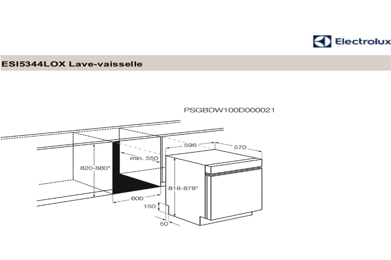 Lave vaisselle encastrable electrolux esi5344lox darty - Lave vaisselle electrolux encastrable ...