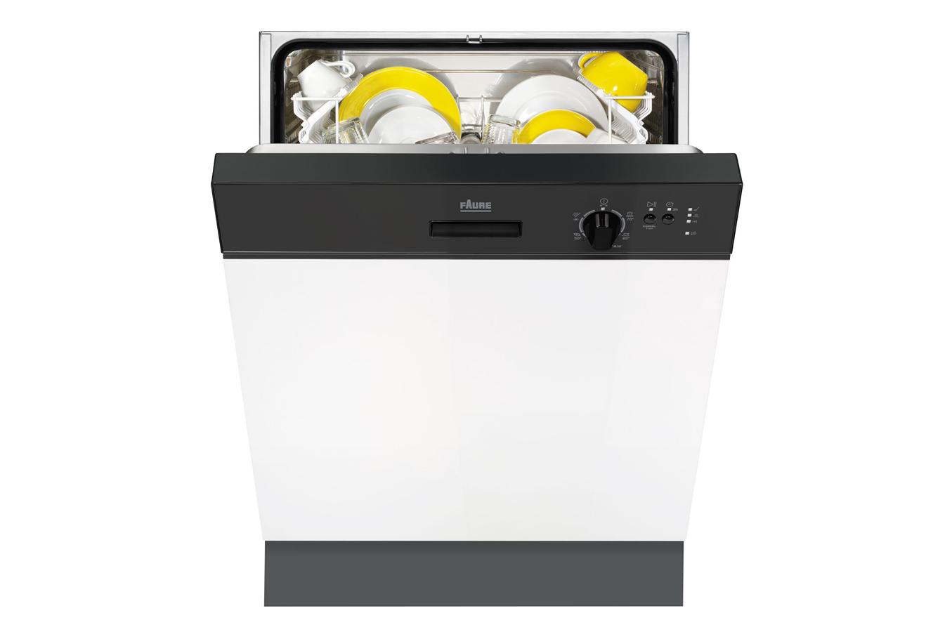 Lave vaisselle encastrable faure fdi13001na noir - Lave vaisselle noir brillant ...
