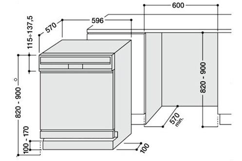 lave vaisselle encastrable hotpoint lsb 7m121 w eu blanc lsb 7m121 w eu 3745040. Black Bedroom Furniture Sets. Home Design Ideas