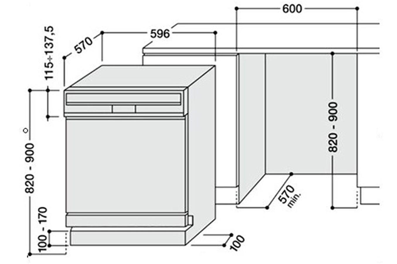 Hauteur four excellent meuble haut pour micro onde for - Lave vaisselle petite hauteur ...