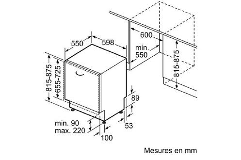 lave vaisselle encastrable siemens sn65n080eu 3742652. Black Bedroom Furniture Sets. Home Design Ideas