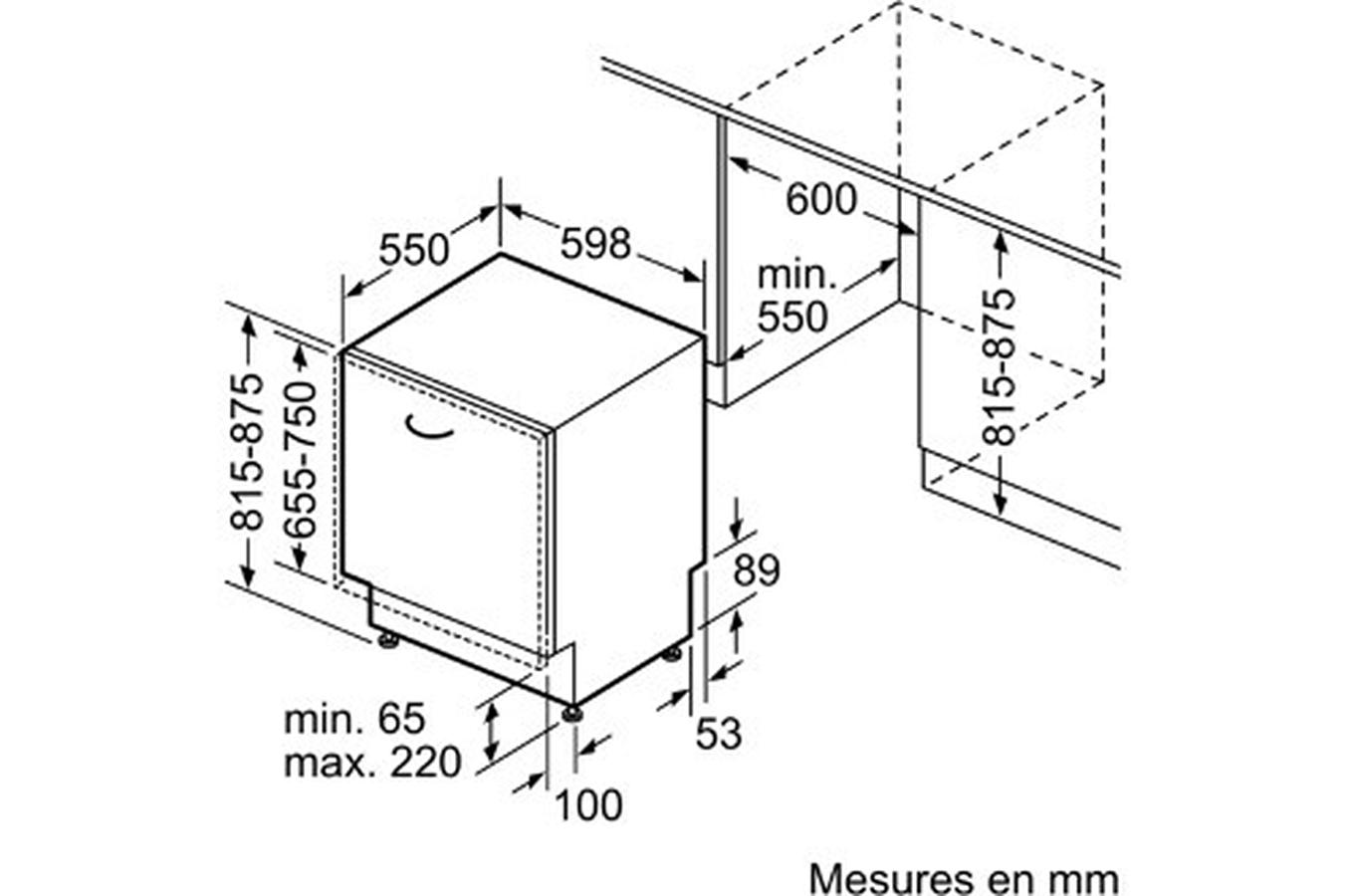 lave vaisselle encastrable siemens sn736x03me darty. Black Bedroom Furniture Sets. Home Design Ideas