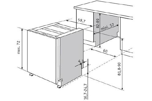 lave vaisselle encastrable whirlpool adg8720ix inox adg8720ix 3603474. Black Bedroom Furniture Sets. Home Design Ideas