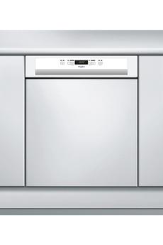 Lave vaisselle encastrable whirlpool wbc3c24p blanc