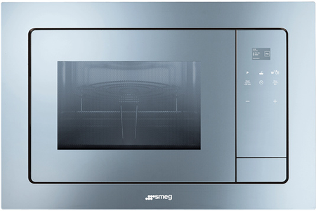 Micro ondes gril encastrable smeg fmi120 inox darty for Micro onde encastrable miroir