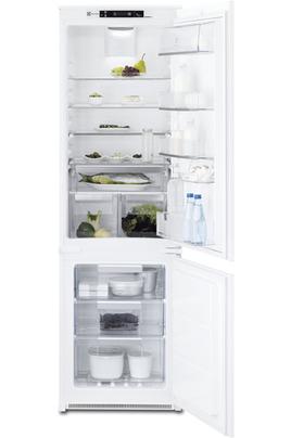 Volume 263 L - Classe A++ (233 kWh/an) Réfrigérateur brassé - Congélateur ventilé Hauteur 177.2 cm (niche 178 cm) Fixation de l'habillage sur glissières
