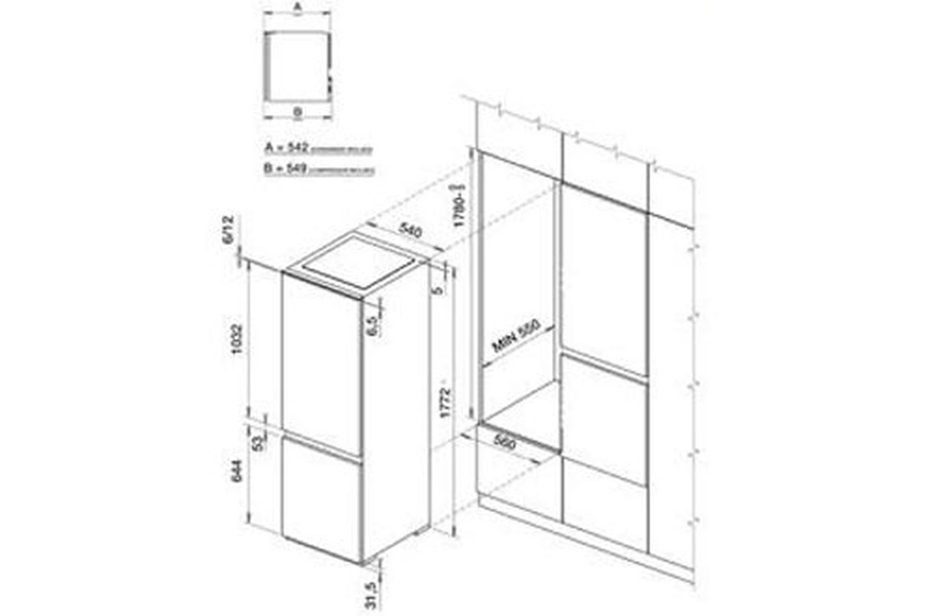 refrigerateur congelateur encastrable electrolux enn28600 3317587 darty. Black Bedroom Furniture Sets. Home Design Ideas