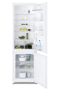 Volume 277 L - Classe A+ (297 kWh/an) Réfrigérateur brassé - Congélateur statique Hauteur 177 cm (niche 177,3 à 177,9 cm) Fixation de l'habillage sur glissières